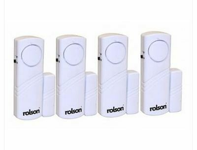 Brand New Rolson 4pc Wireless Door and Window Audible Alarm - 66845