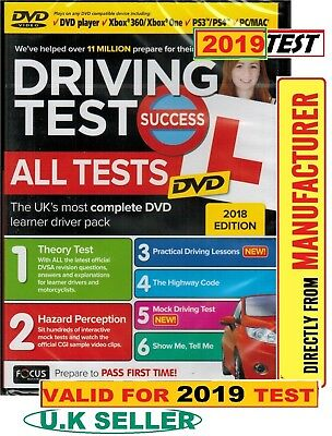 2019 Driving Theory Test Success All Tests & Hazard Perception PC DVD ROM*ATDv