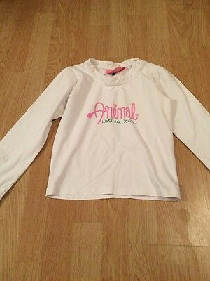 Animal Girls Size XS 5-6 Years Long Sleeved T Shirt Top *****