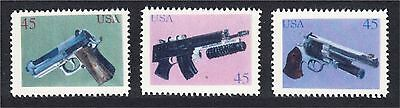 Guns Pistols Automatic Weapons Fantasy Stamps Artistamp by F.I.R.E. 1994