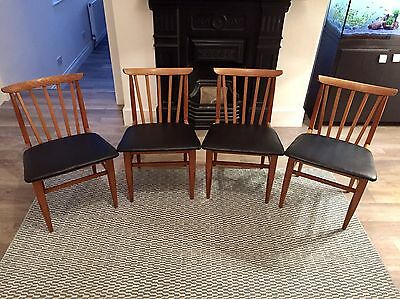 Mid Century Dining Chairs (x4)