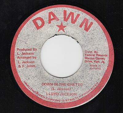 Lloyd Jackson - Down In The Ghetto - Rare Roots