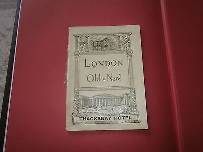 London Old & New Thackeray Hotel 1931 Booklet