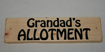 Allotment Shed Sign Grandad's Garden Den Shop Outdoor Hanging Plaque Home Office