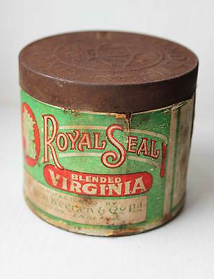 Royal Seal Tobacco Tin Naafi H M Armed Forces Military Supplies