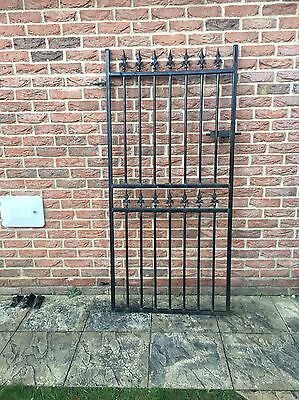 Black Wrought Iron Gate With Fittings