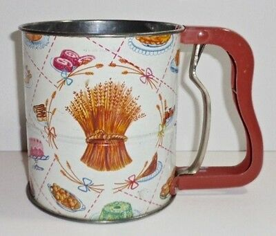 Vintage Androck 3 Screen Hand-I-Sift Flour Sifter Wheat & Kitchen Food Images