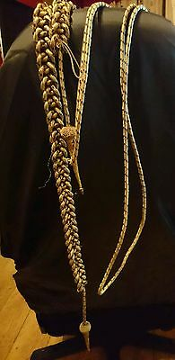 Vintage Ww1/ww2 Royal Navy Gold And Navy Fleck Aiguillette