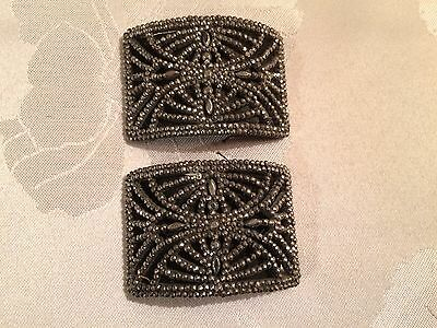 Pair of Antique French Victorian Cut Steel Belt / Shoe Buckles  - Lot 7