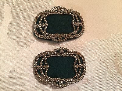 Pair of Antique French Victorian Cut Steel Belt / Shoe Buckles  - Lot 8