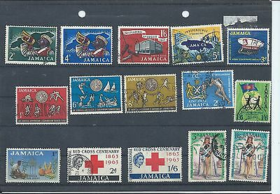 Jamaica stamps. 1962-1965 used lot. (Y261)