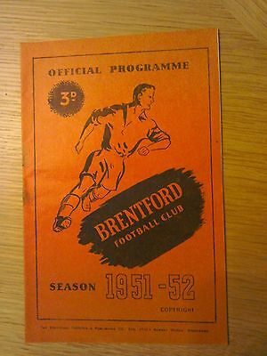 1951-52 Brentford V Cardiff City