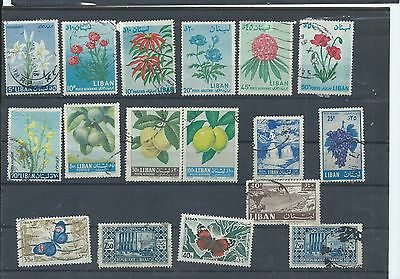 Lebanon stamps. Small used lot - see desc. (X598)
