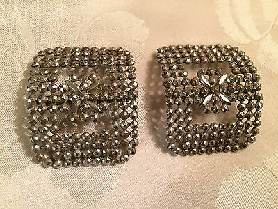 Pair of Antique French Victorian Cut Steel Belt / Shoe Buckles  - Lot 9