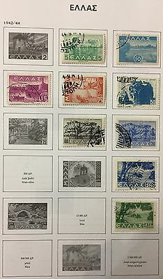 Greece 1942/44 Lot Of 9 Used For Description Look At The Picture