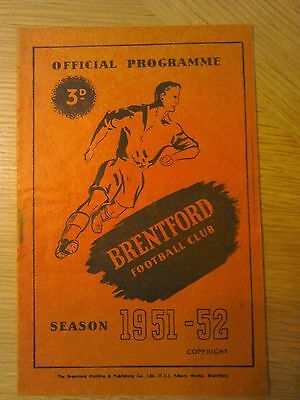 1951-52 Brentford V Bury