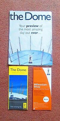 The Dome MILLENNIUM DOME EXPERIENCE PREVIEW MAGAZINE January 2000 London O2