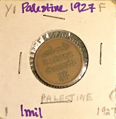 Palestine 1927 One Mil Coin Nice