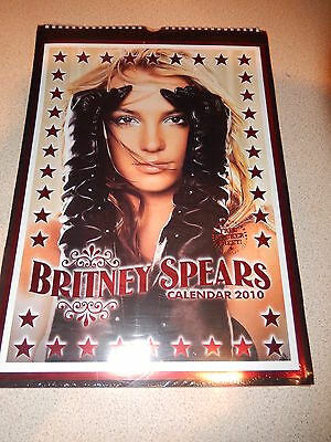 Britney Spears Calendar 2010 - Plus Free Sticker Sheet - Unopened - Collectable