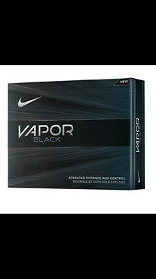 12 Nike Vapor Black Golf Balls NEW BOXED