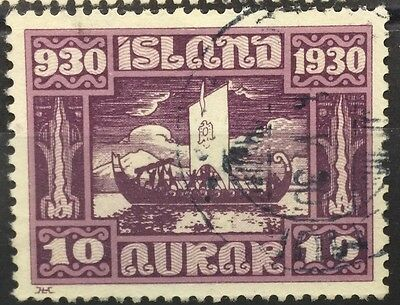 1930 Iceland SG161 10a Parliament used