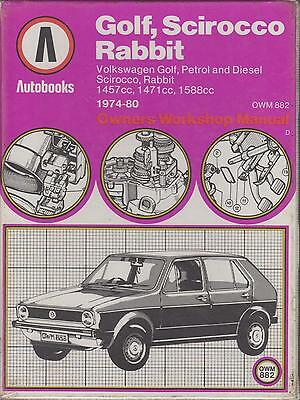 Vw Golf Mk1 1.5 1.6 Petrol ( Incl Gti ) & 1.5 Diesel 1974 - 1980 Workshop Manual