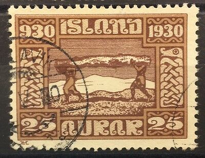 1930 Iceland SG164 25a Parliament used