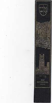 Leather Bookmark : Ely Cathedral 673 Ad.