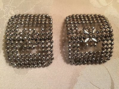 Pair of Antique French Victorian Cut Steel Belt / Shoe Buckles  - Lot 14