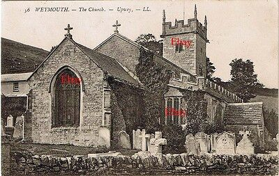 PPC Louis Levy LL56 Weymouth . The Church Upwey c1900