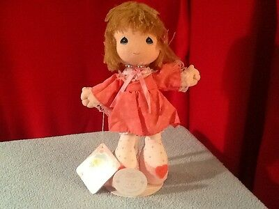 Precious Moments February Doll (1988) -from the Friendship Line - includes stand