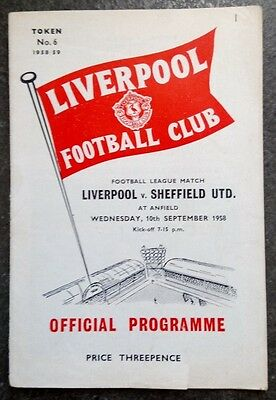 Liverpool v Sheffield United 1958/9