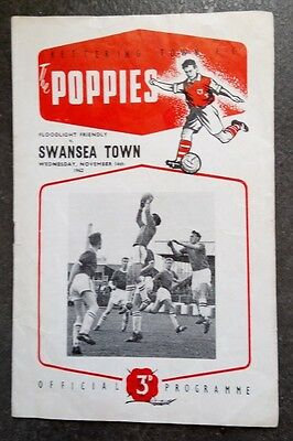 Kettering Town v Swansea Town (Friendly) 1962/3