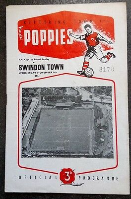 Kettering Town v Swindon Town (FA Cup) 1961/2