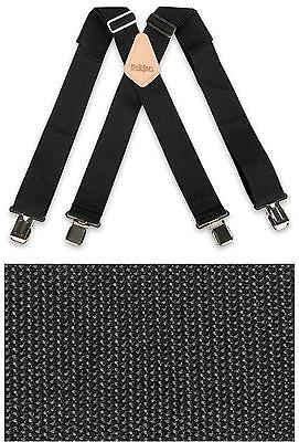 Mens Heavy Duty Metal Clip Work Plain Black Non-Elastic Brimarc Trouser Braces
