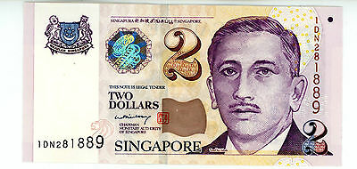 Singapore… P-45a … 2 Dollars … ND(2005) … *UNC*