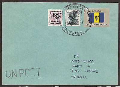 (A) Bosnia Herzegovina / United Nations. 1992. Unprofor Cover From Supply Unit T