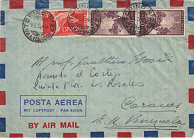 ITALY (r370) 1949 cover st. air mail from Torino to VENEZUELA