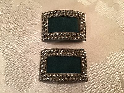 Pair of Antique French Victorian Cut Steel Belt / Shoe Buckles  - Lot 23