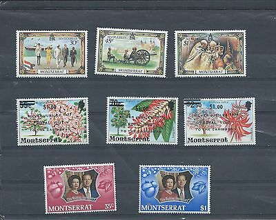 Montserrat stamps. Various Royalty stamps. MNH. (Y549)