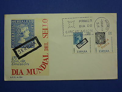 Lot 12604 Timbres Stamp Enveloppe Journee Du Timbre Espagne Annee 1968