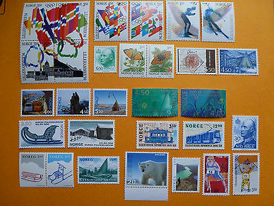 Lot 535 Timbres Stamp Divers Norvege Norway Annee 1994 - 1997
