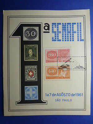 Lot 12408 Timbres Stamp Enveloppe Timbre Sur Timbre Bresil Brazil Annee 1961
