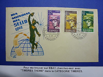 Lot 12601 Timbres Stamp Enveloppe Journee Du Timbre Espagne Annee 1962