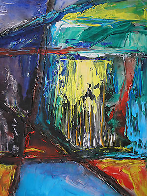 original contemporary acrylic landscape painting on canvas free postage