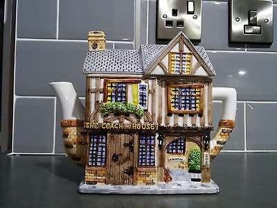 Western House Collectable Teapot Village Collection..the Coach House