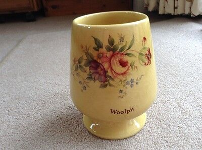 Fordham Pottery Hand Finished Vase. Decorated With Flowers & 'Woolpit'