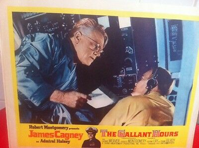 James Cagney The Gallant Hours Lobby Card (4) Hollywood Legend - Admiral Halsey