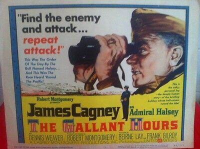 James Cagney The Gallant Hours Lobby Card (3) Hollywood Legend - Admiral Halsey