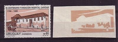 Uruguay 1989 Charity Hospital Bicentenary Imperforated Proof Mnh